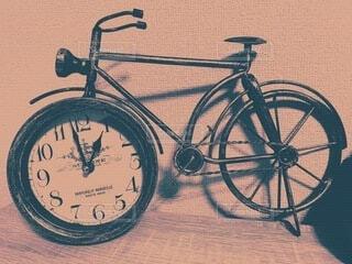 自転車,レトロ,お気に入り,テキスト,置き時計