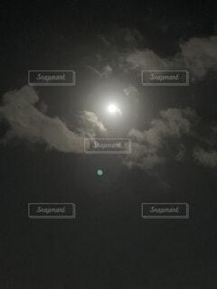 空,暗い,月