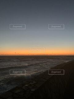 自然,海,空,屋外,ビーチ,雲,夕暮れ,水面,地平線