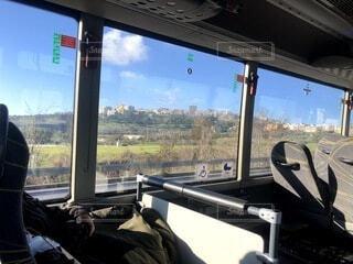 空,雲,電車,窓,田舎,イタリア,車両