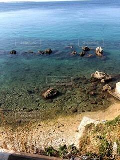 自然,風景,海,夏,海水浴,屋外,湖,ビーチ,水面,海岸,岩,イタリア,青い,透き通った