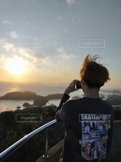 風景,空,屋外,雲,山,人物,人,ハイキング