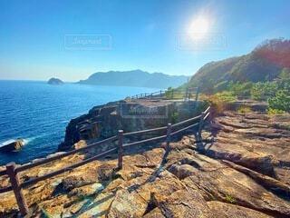 三重県熊野市甫母町の楯ヶ崎を見れるところからの景色の写真・画像素材[4170289]