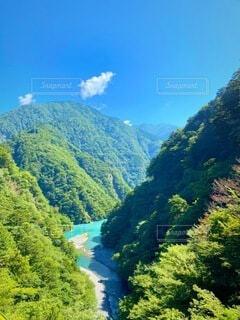 青空と寸又峡の写真・画像素材[4178025]