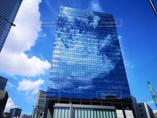 空,建物,屋外,雲,反射,都会,高層ビル,浜離宮,汐留,アーキテクチャ