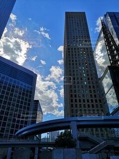 風景,空,建物,屋外,雲,タワー,都会,高層ビル,モノレール,港区,ゆりかもめ,汐留,アーキテクチャ,東京の景色,高上昇