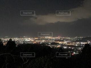 自然,夜景,屋外,晴れ,暗い,水面,キャンプ場,福岡,博多湾,若杉山,黄砂無し