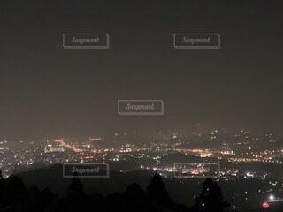 自然,夜景,屋外,晴れ,暗い,水面,キャンプ場,福岡,博多湾,黄砂,若杉山