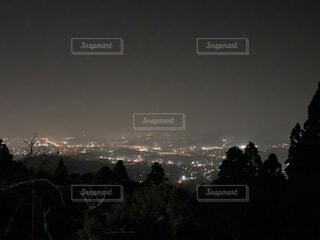 自然,冬,夜景,屋外,晴れ,暗い,水面,キャンプ場,福岡,博多湾,黄砂,若杉山