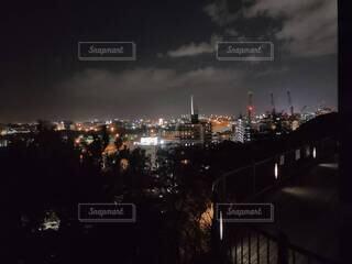 福岡市西公園からの夜景の写真・画像素材[4162073]