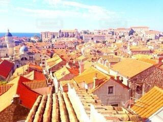クロアチアの都市ドブロブニクの旧市街の写真・画像素材[4178060]
