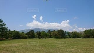 自然,風景,空,屋外,雲,山,景色,草,樹木