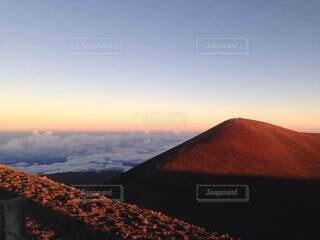 自然,風景,空,屋外,雲,夕暮れ,山,ハワイ,マウナケア,サンセット