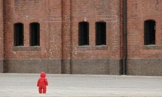 建物,屋外,赤,レンガ,赤ちゃん,通り