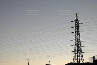 空,屋外,雲,景観,ライン,電線路