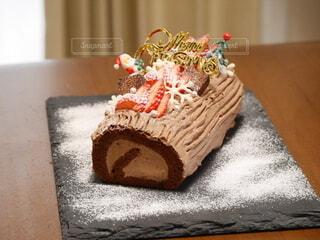 手作りのクリスマスケーキの写真・画像素材[4149567]