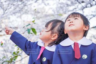 兄妹の制服写真の写真・画像素材[4320198]