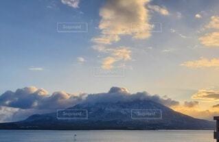 自然,風景,空,雪,屋外,朝日,雲,水面,海岸,雪景色,山,雪化粧