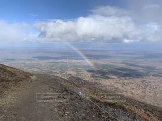 自然,風景,空,屋外,雲,虹,山,丘,山登り,樽前山