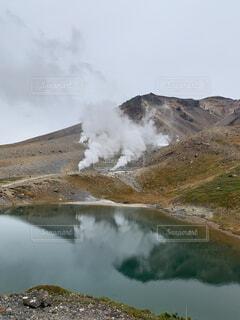 自然,風景,空,屋外,湖,雲,水面,霧,山,岩,煙