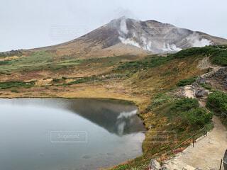 自然,風景,空,屋外,湖,水面,山,ターン