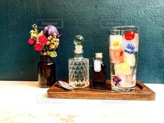 花,花瓶,ガラス,ボトル,カップ
