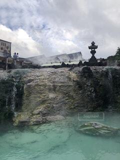 草津温泉、湯畑の写真・画像素材[4172819]