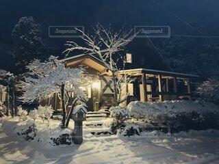 空,冬,雪,屋外,山,家,樹木,冷たい,銀世界