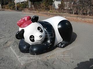 公園のパンダの遊具の写真・画像素材[4159816]