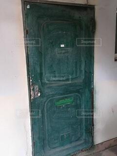 屋内,緑,古い,ドア,団地,汚い,崩壊,ドアハンドル