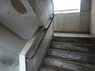 屋内,階段,古い,壁,団地,汚い,崩壊,放棄,探査