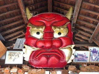 赤鬼のお面の写真・画像素材[4146383]