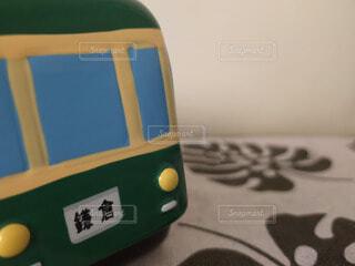 屋内,緑,かわいい,電車,置物,おもちゃ,鉄道,湘南,鎌倉,コピースペース,江ノ電,玩具,私鉄,藤沢,300系