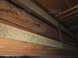 屋内,木,和室,デザイン,天井,和風,昭和,彫刻,タン,家屋,床の間,ニス,長押,欄間,日本間,木工,鴨居,堅材,らんま,着色木材