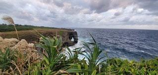 自然,海,沖縄,岩,万座毛,遊歩道,侵食,風が強い