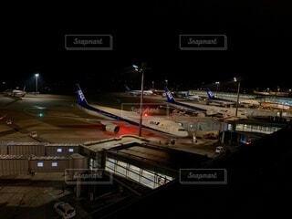 夜景,飛行機,空港,ANA,航空機,羽田空港,全日空,全日本空輸,NH