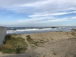 自然,空,屋外,砂,ビーチ,雲,水面,海岸,地面