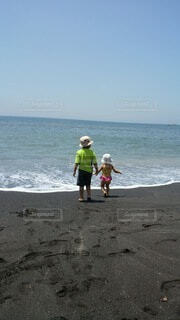 自然,風景,海,空,屋外,ビーチ,水面,海岸,人物,人,幼児