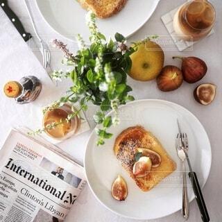 フレンチトーストの朝食・ブランチ風景の写真・画像素材[4152483]