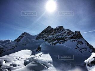 スイスのユングフラウの写真・画像素材[4155704]