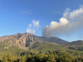 自然,風景,空,屋外,雲,山,丘,鹿児島,桜島,噴火,バック グラウンド