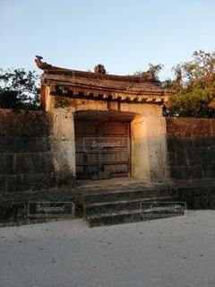 屋外,沖縄,世界遺産,門,石,琉球,首里城公園