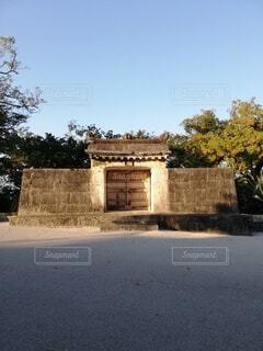 空,屋外,沖縄,世界遺産,門,琉球,草木,首里城公園