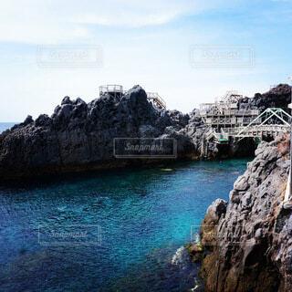 自然,風景,海,空,夏,屋外,ビーチ,島,水面,山,岩,崖,眺め