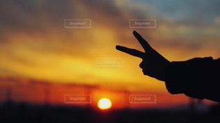背景の夕日の写真・画像素材[1271762]
