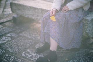 秋の足元の写真・画像素材[1802938]