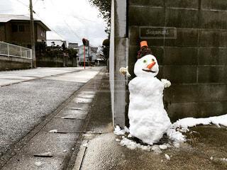 雪,屋外,雪だるま