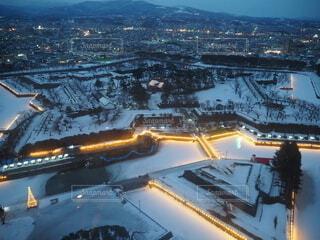 冬,雪,屋外,北海道,函館,五稜郭