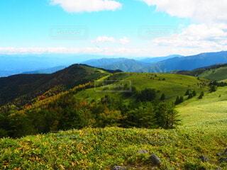自然,風景,空,花,屋外,緑,草原,雲,山,草,丘,樹木,新緑,草木