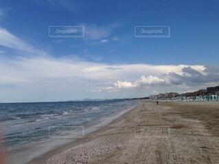 自然,海,空,屋外,砂,ビーチ,雲,青空,砂浜,水面,海岸,イタリア,日中